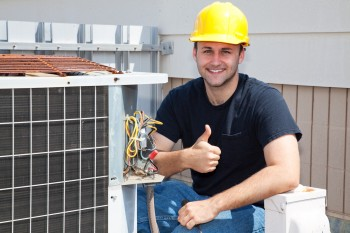 Air Conditioner Repair Tech at Tampa Residence