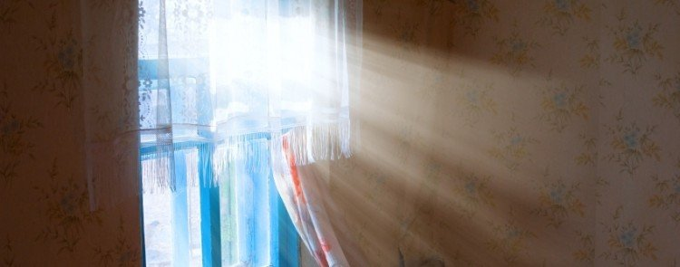 sunlight coming through a residential window during winter in Florida