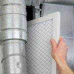 changing a filter on an hvac unit