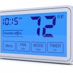 Advanced programmable digital thermostat