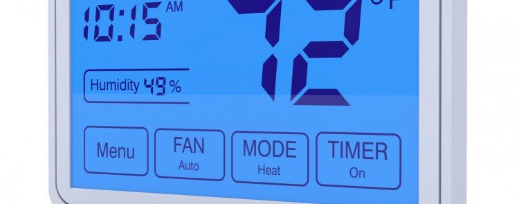 Advanced programmable digital thermostat